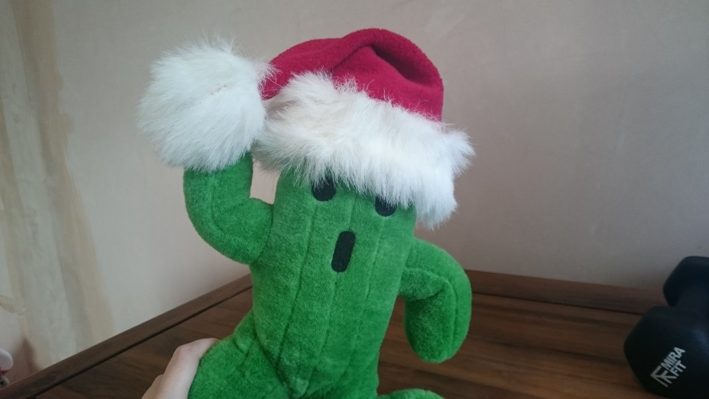 Cactuar with a santa hat