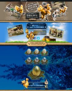 Screenshot of the FFXV chocobo keeper site