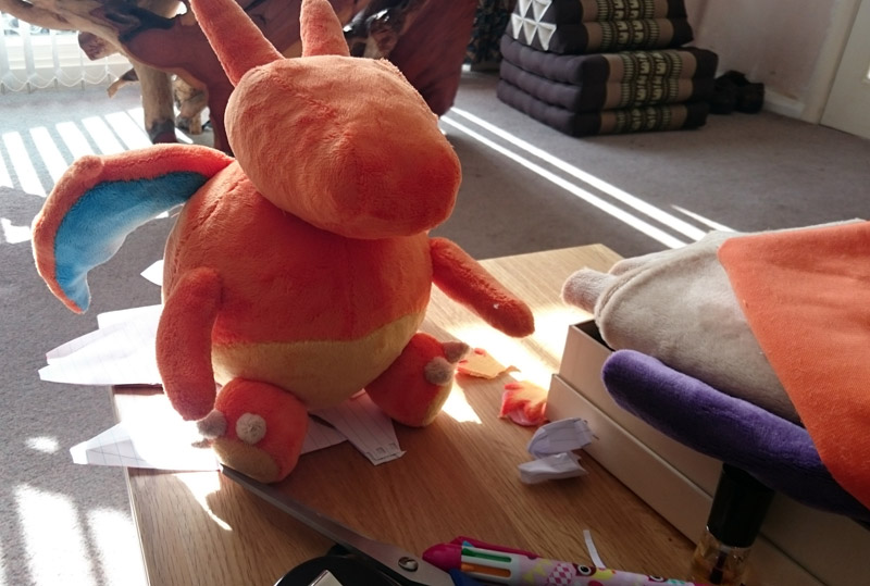 Plushie dragon in progress