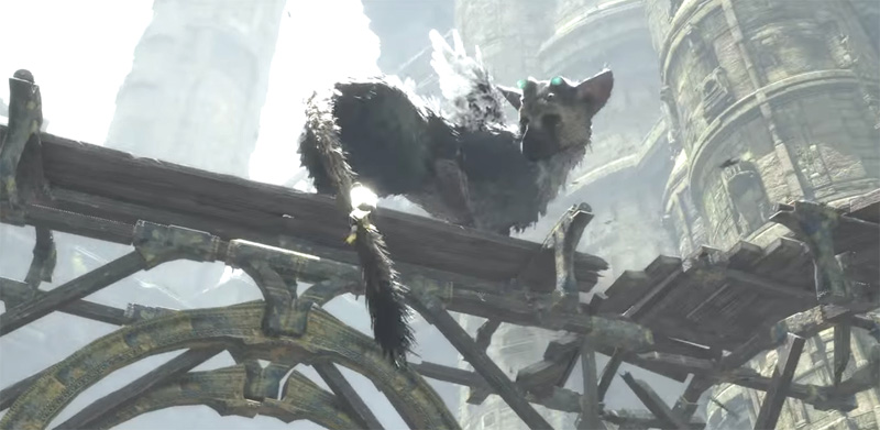 Trico on a bridge - The Last Guardian