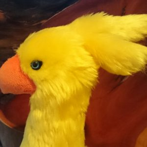 Custom chocobo plush close up