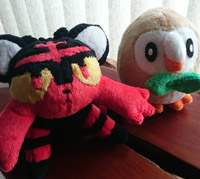 Litten and rowlet plush thumbnail