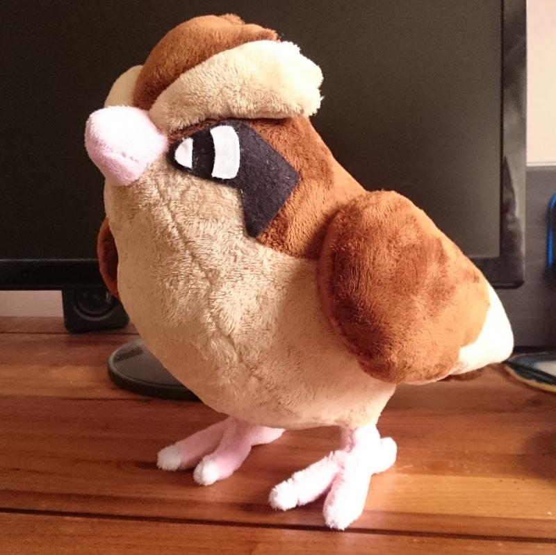 Pokemon Pidgey plushie