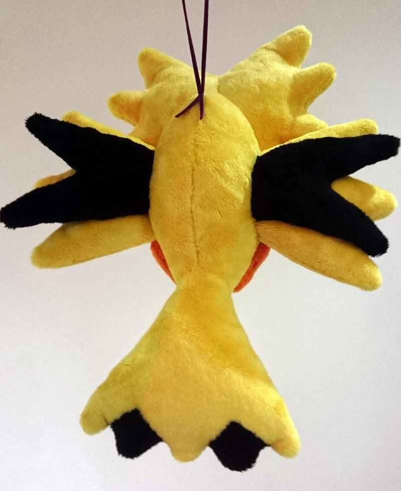 chibi_zapdos_plush_back