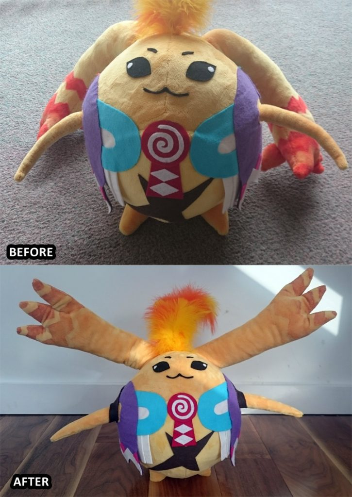 Riki plushie comparison
