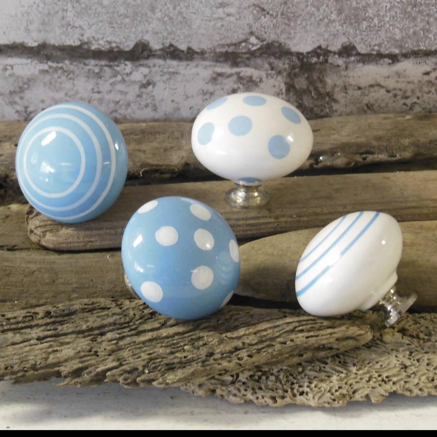 Pastel ceramic door knobs