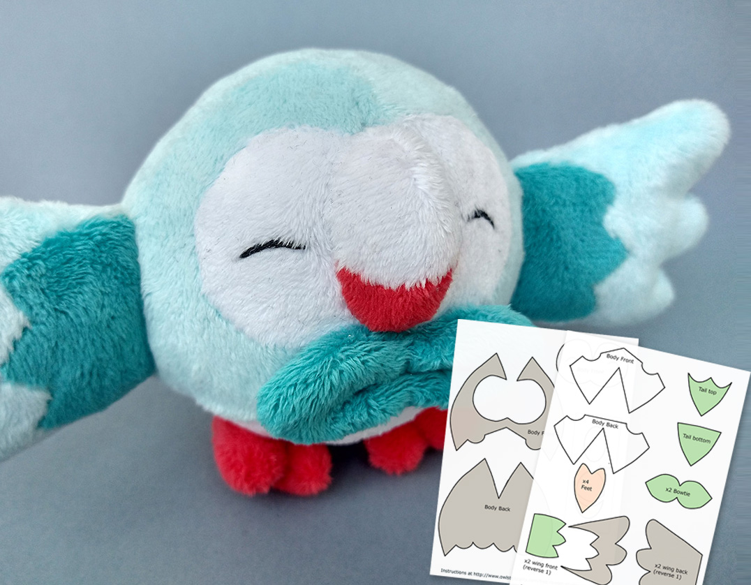 Rowlet plush template main image